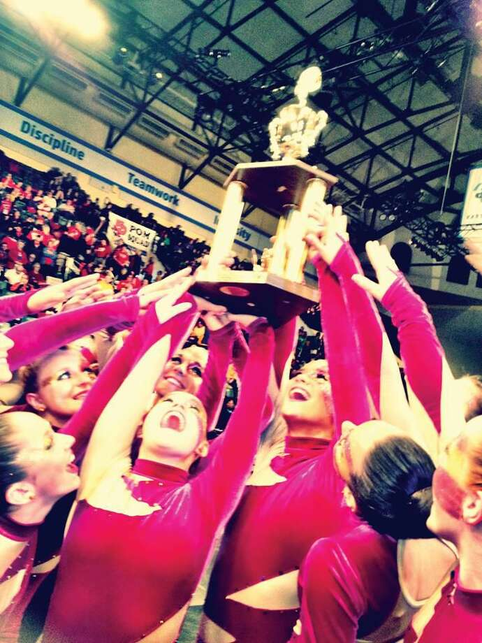 Submitted Photo by Kaitlin May HHS Dance team celebrating winning 11th place at the UDA High School National Dance Team championship in Orlando, Florida.
