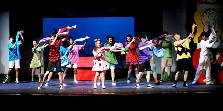 """Hamden H.S. students in the cast of """"You Are A Good Man, Charlie Brown!"""" during a performance Wednesday morning March 20, 2013 at the high school to Hamden elementary school students. The students will perform the musical March 21 - 23. Photo by Peter Hvizdak / New Haven Register"""