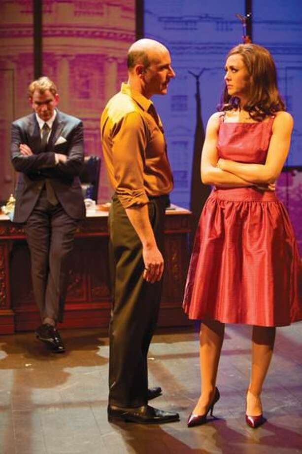 """Submitted Photo by T. Charles Erickson Douglas Sills, Jordan Lage, and Christina Bennett Lind star in """"Ride the Tiger."""""""