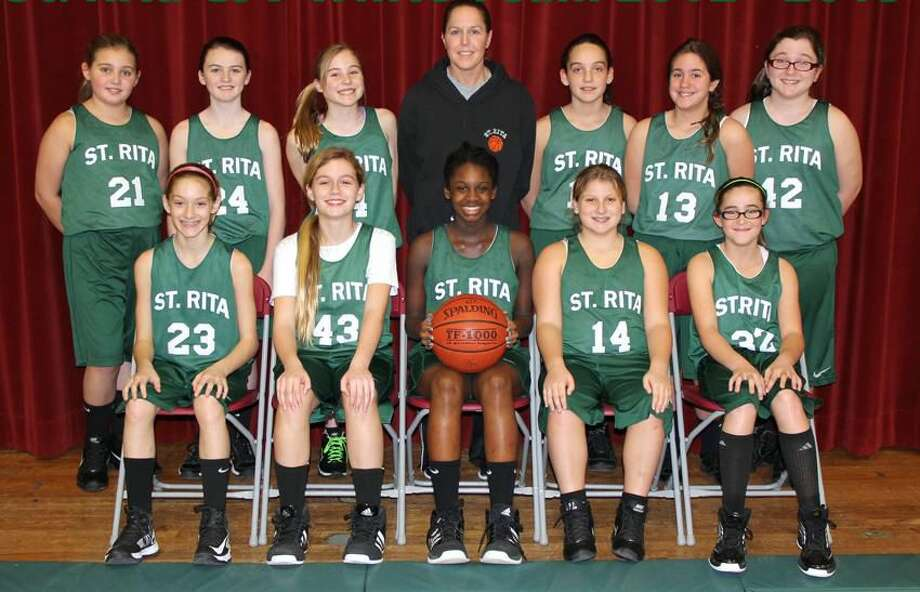 Submitted photo The St. Rita School girls' junior varsity basketball team.