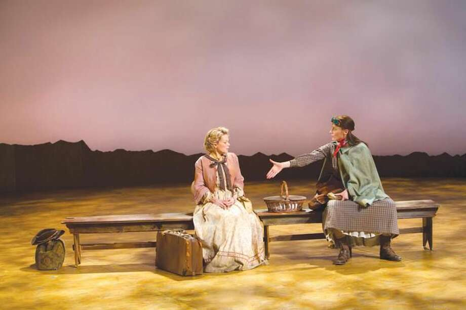 """Submitted photos by T. Charles Erickson Monique Vukovic and Brenda Withers perform in """"Abundance"""" at Hartford Stage."""