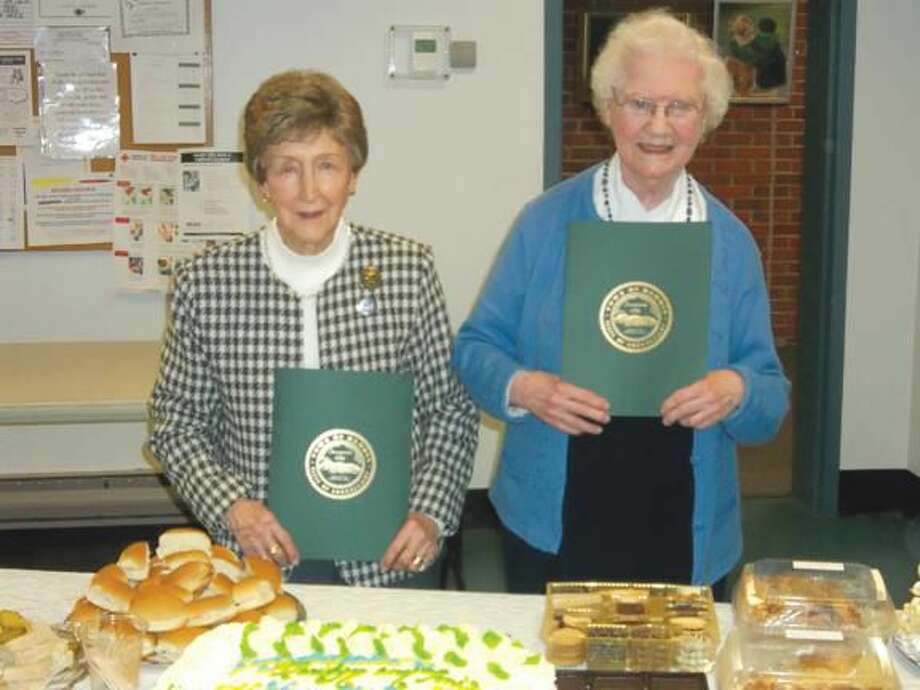 """Submitted Photo Toni Incampo, left, and Marilyn Hauck were both named """"Woman of the Year - 2013"""" by the Hamden Woman's Club."""