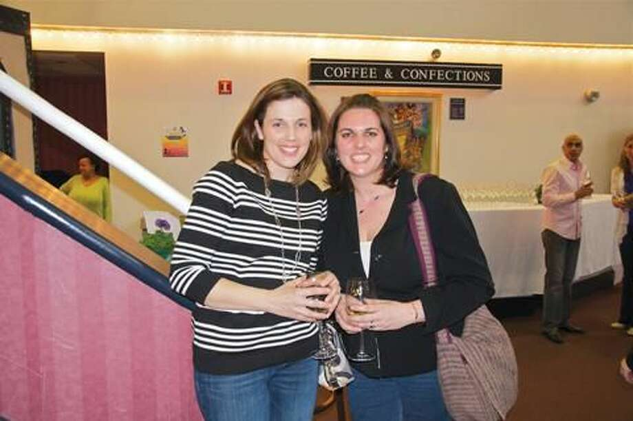 Submitted Photo Tricia Wellins, poses with her sister, Jamie Garretson, both Hamden, while attending the 2013 Greater New Haven MS Taste of Hope, held Thursday, March 21, at the Shubert Theater.