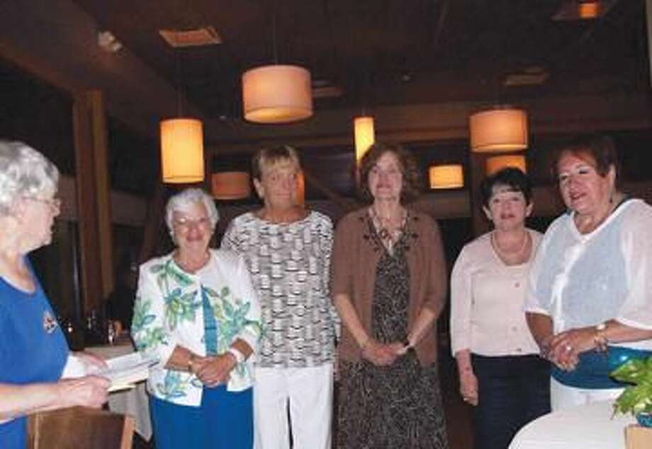 Submitted Photo Installation of Officers by Lois Stover with Lois Gough, Cindy Golia, Lee Fermo, Lynda O'Donnell and Gerri Giordano.