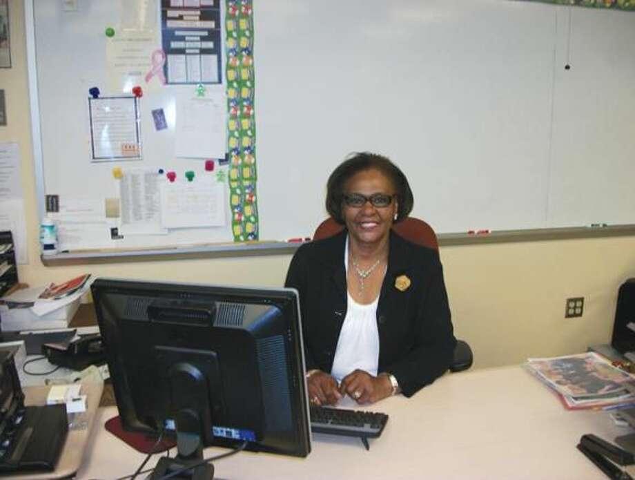 "Photo by Lynn Fredricksen Annie Mae ""Miss Matthews"" Haynes is retiring after 44 years of teaching at North Haven High School."