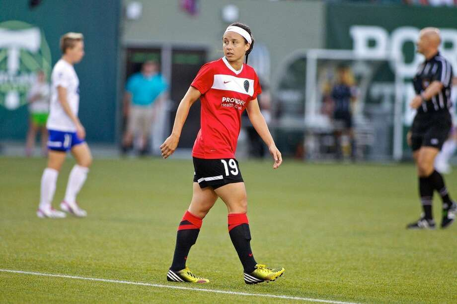 Former North Haven star Tiffany Weimer is back playing in the U.S. for the Portland Thorns FC of the National Women's Soccer League. (Contributed photo)