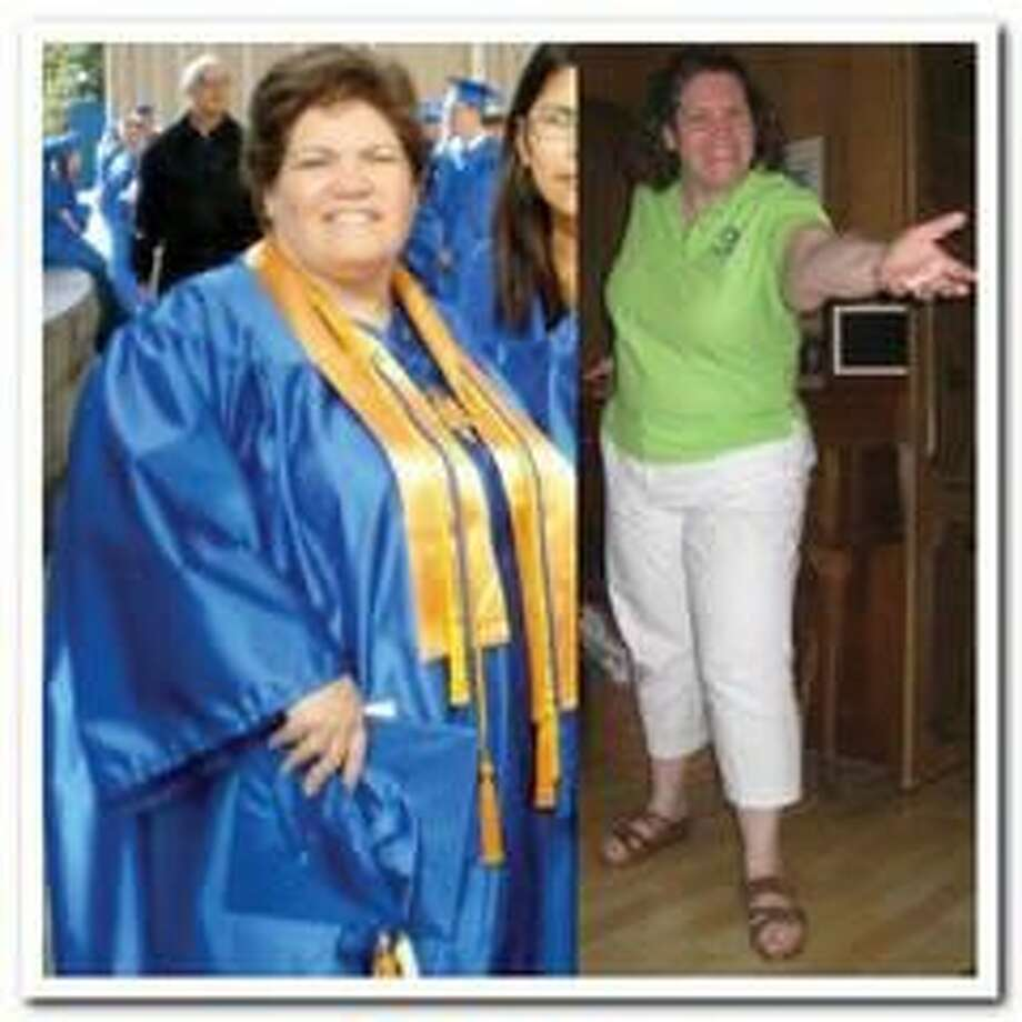 Submitted Photo Marni Esposito is shown before and after losing 100 pounds.