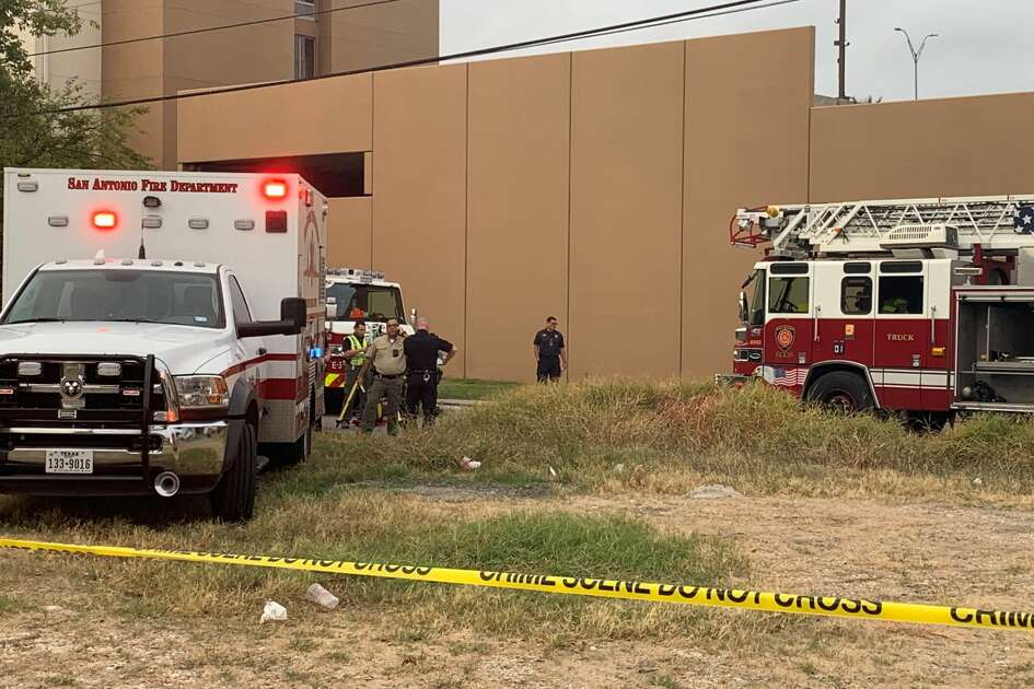 A San Antonio firefighter was hospitalized after being hit by a car Tuesday morning.