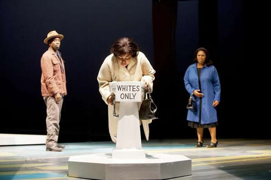 """Photo by T. Charles Erickson Teagle Bougere, Kimberly Gregory, and Tamela Aldridge perform in """"Gee's Bend."""""""