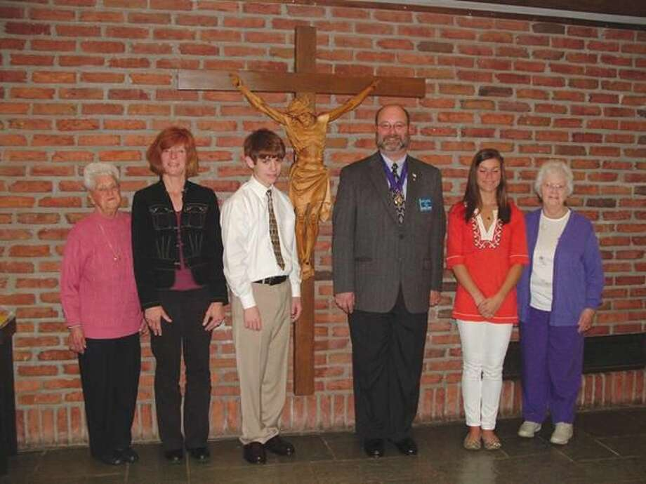 Submitted Photo Irene Denya, Corrine Williams, Colin Brady, Grand Knight Mike Hogan, Morgan Williams and Bobbi O'Byrne.