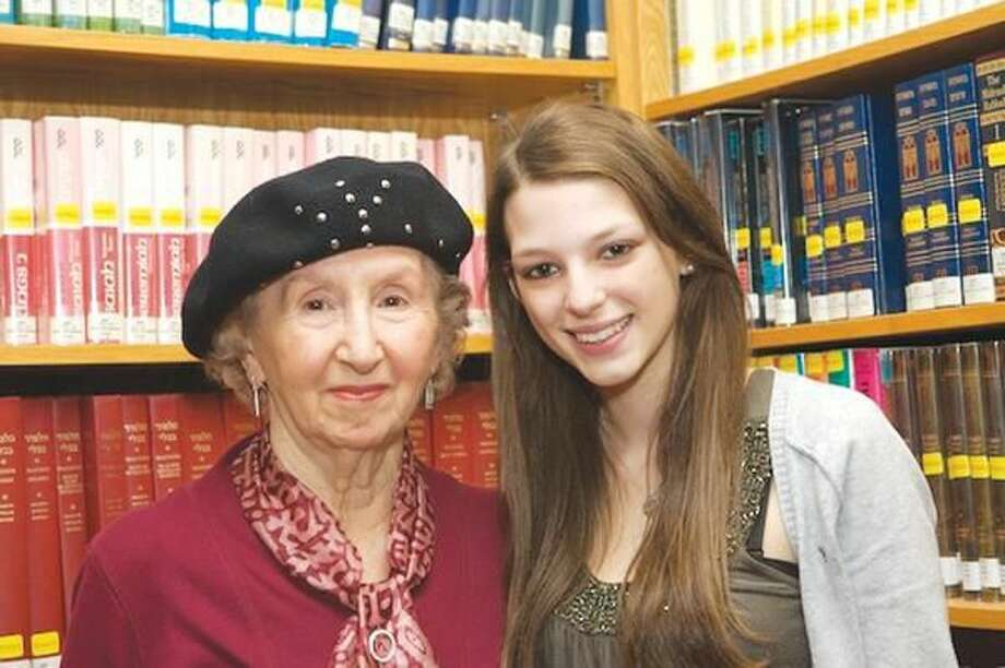 """Submitted Photo North Haven High School junior Dana Lefland, right, and Esther Schwartzman, a Holocaust survivor living in New Haven, are participants in the national """"Adopt-A-Survivor"""" program."""
