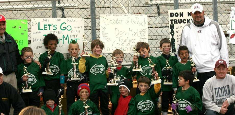 Submitted photo The North Haven Youth Flag Football champion Don-Mat Trucking team.