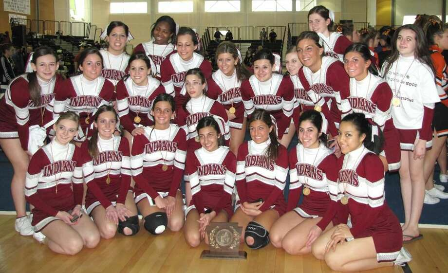 Submitted photo The North Haven cheerleading team