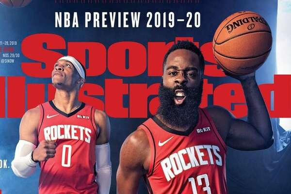 The Houston Rockets' Russell Westbrook and James Harden on the cover of teh Oct. 21-28, 2019 Sports Illustrated cover.