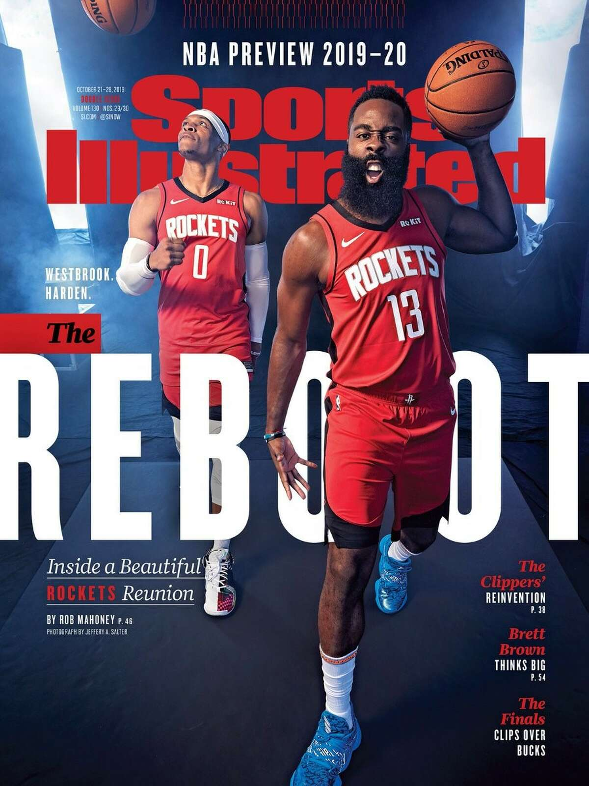 PHOTOS: All the times a Houston team has been on the cover of Sports Illustrated The Houston Rockets' Russell Westbrook and James Harden on the cover of teh Oct. 21-28, 2019 Sports Illustrated cover. Browse through the photos above for a look at all the Houston Sports Illustrated covers over the years ...