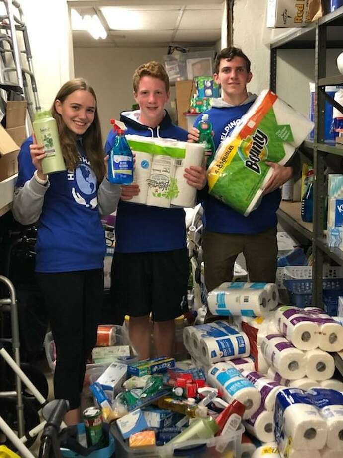 The Depot's Helping Hands donated goods to Darien's Department of Human Services Photo: Contributed