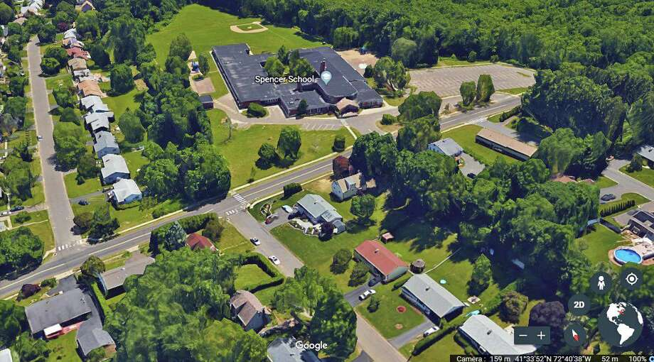 Road milling will be conducted in Middletown Tuesday from Newfield Street to Westmont Drive across from Spencer School, as well as at other nearby areas Wednesday. Photo: Google Earth Screenshot
