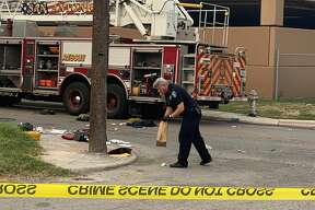 A San Antonio firefighter died after being hit by a car while working a scene Tuesday morning, according to the San Antonio Fire Department.