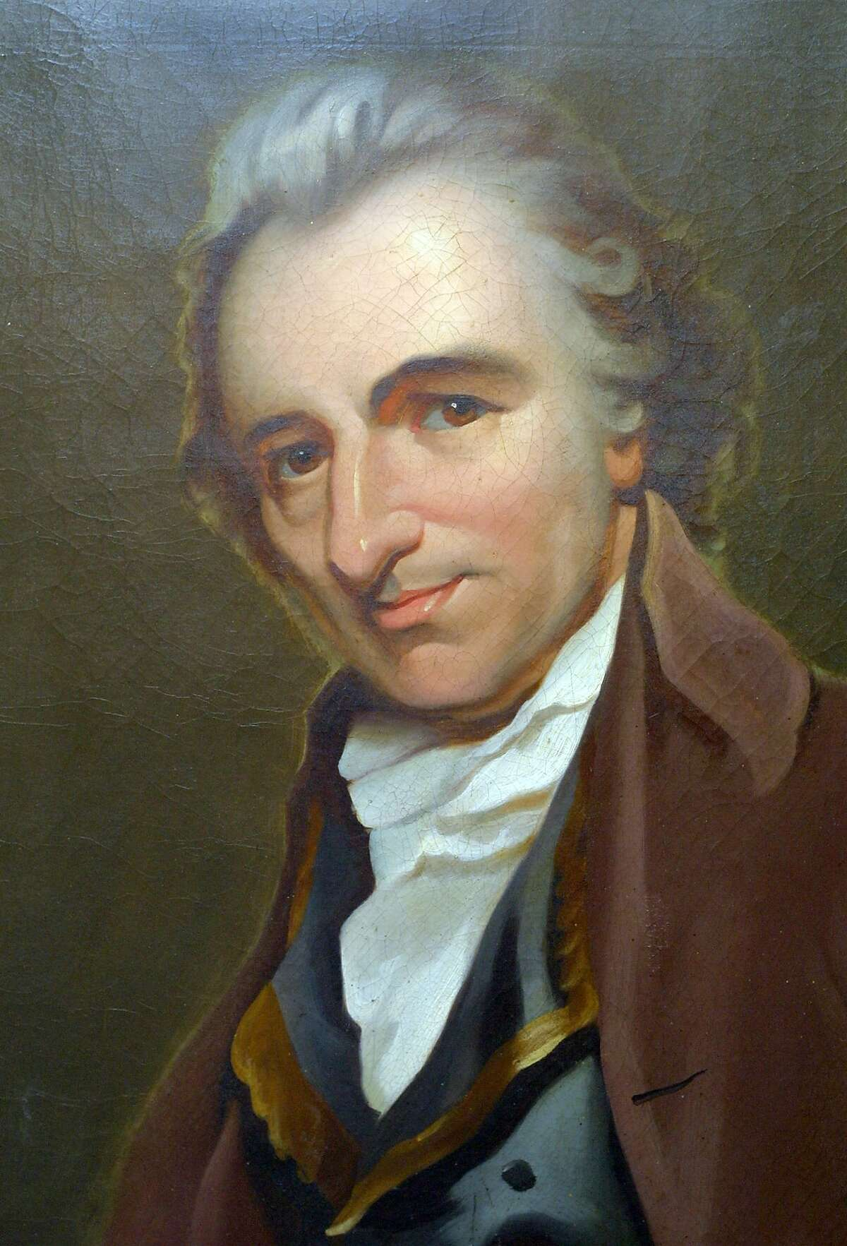A portrait of Thomas Paine is shown hanging in the Thomas Paine Memorial Museum in New Rochelle, N.Y., Friday. March 30, 2001. A concerted effort is being made to ensure Paine a rightful place in history as a pre-eminent founder of the United States. (AP Photo/Stuart Ramson)