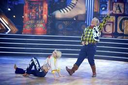 "Lindsay Arnold and Sean Spicer perform a quickstep to ""You've Got a Friend in Me"" on a Disney-themed episode of ""Dancing With the Stars."""
