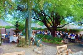 Dining at Lon's at The Hermosa Inn on the idyllic patio canopied by the century-old Lysiloma tree is an experience you won't forget.