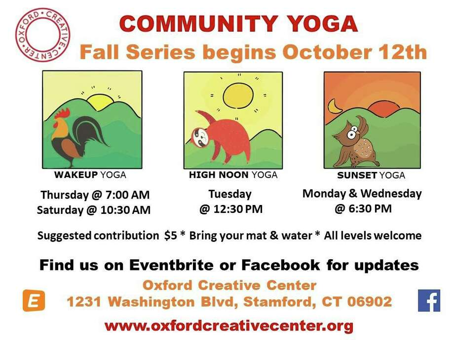 The Oxford Creative Center recently launched a community yoga series for fall 2019. Photo: Contributed / Contributed Photo / Westport News contributed