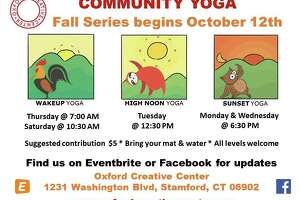 The Oxford Creative Center recently launched a community yoga series for fall 2019.