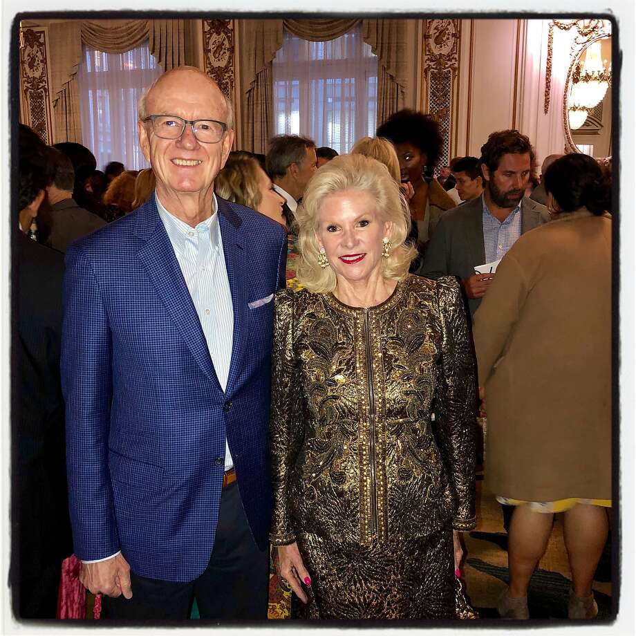 Honorary Consul General to Monaco Tom Horn and Shanti Project honoree Dede Wilsey. Oct. 3, 2019. Photo: Catherine Bigelow / Special To The Chronicle