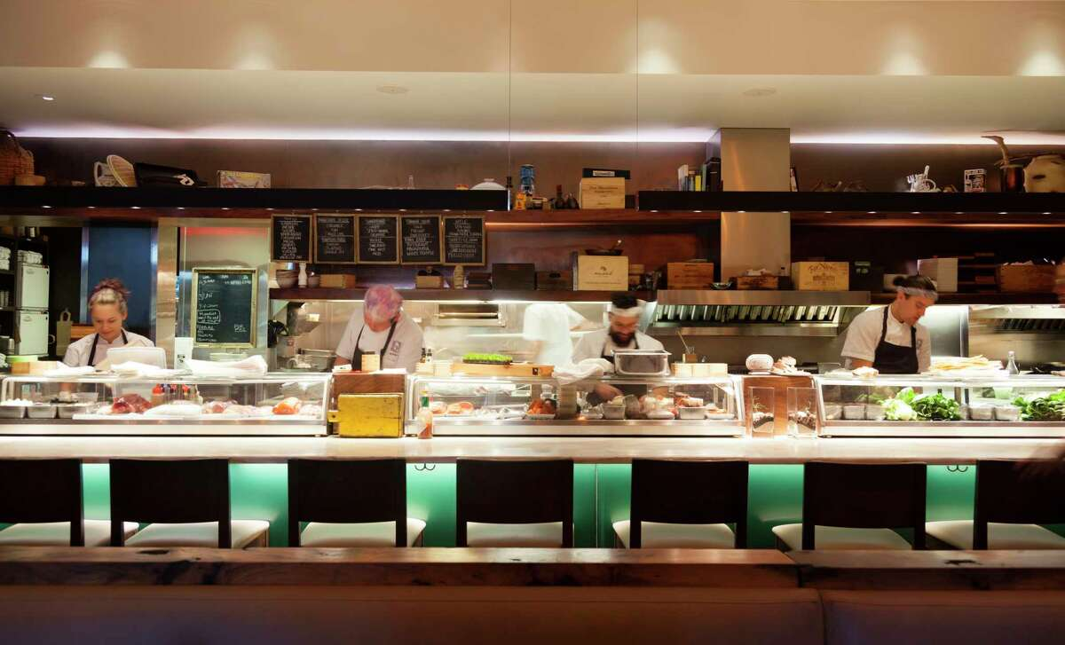Uchiko, the sister restaurant to Uchi, will open its second Texas location at Post Oak Place, 1801 Post Oak, a new mixed-use development owned by Zadok Jewelers. Hai Hospitality, the restaurant group that operates Tyson Cole's Uchi brands, announced Uchiko will open in 2021.Shown: Interior of Uchiko in Austin.