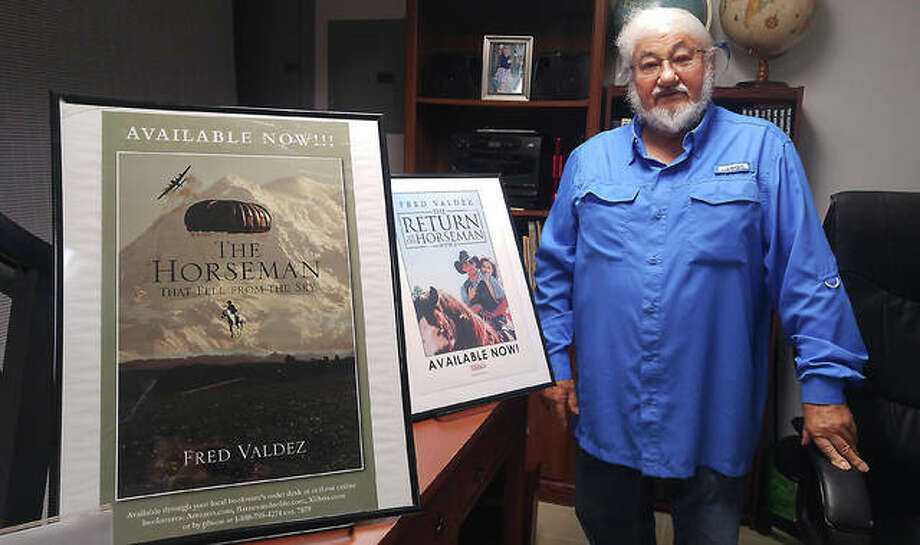 At 81, Fred Valdez of Alton, tax preparer turned author, published his second book this past spring. He currently is working on a third. Photo: Jeanie Stephens|The Telegraph