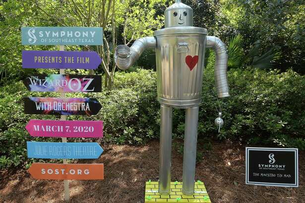 The Scarecrow Festival is up at Shangri La Gardens and Nature Center in Orange. Fifty-eight entries from local businesses and organizations decorate the garden walkways. All are made of repurposed and recycled materials, bringing home the message of sustainability and environmental awareness. Spectators are encoyuraged to vote for their favorite, with this year's winners announced Nov. 2 at the Autumn Fair. Photo taken Wednesday, October 09, 2019 Kim Brent/The Enterprise
