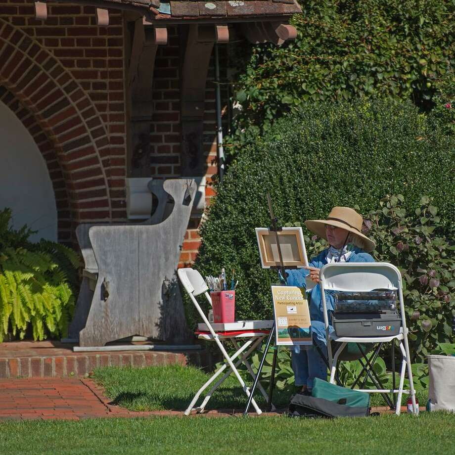 "The Carriage Barn Arts Center exhibit ""Capturing Waveny"" features art created by local artists during a plein air event earlier this month. The show runs Oct. 24 through Nov. 2. Photo: Carriage Barn Arts Center / Contributed Photo / (c)2018 Barbara Soares &  James Stasiak"