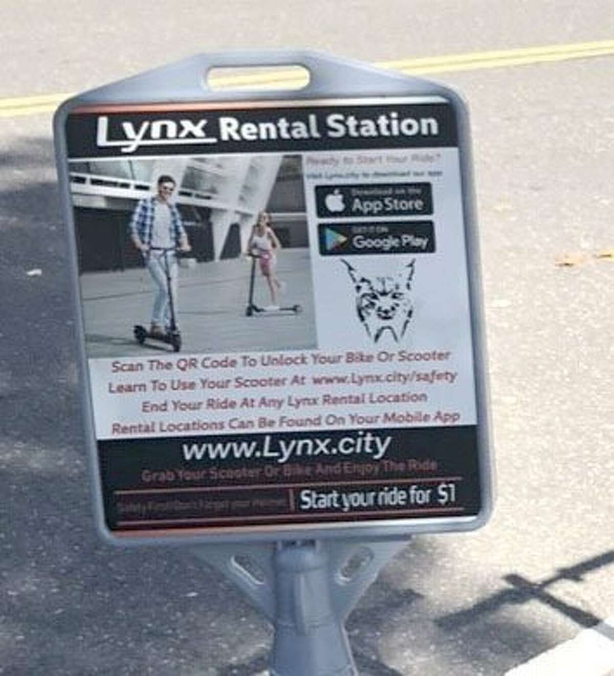 Spectrum/Scooters are now available to rent in downtown New Milford. They are provided by Lynx.City. October 2019