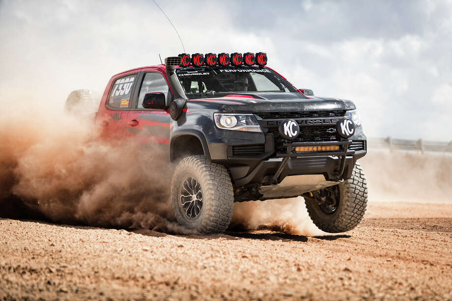 Chevrolet debuted its 2021 Colorado at the 2019 Method Race Wheels Laughlin Desert Classic on Oct.10, planning to then debut the 2021 Chevrolet Colorado ZR2 at the SEMA show in Las Vegas. Photo: Justin Cesler/Chevrolet/TNS