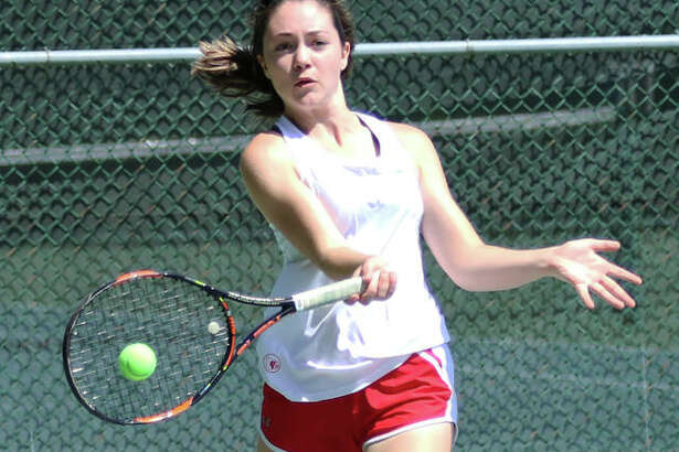 Maddie Saenz will be one of six seniors honored by Alton Redbirds girls tennis on its Senior Day in a city championship match vs. Marquette Catholic at 4 p.m. Monday at LCCC's Andy Simpson Tennis Complex in Godfrey. Nikki Lowe, Val Walters, Abby Scyoc, Bella Kane, and Kajia Ufert will also be playing their final dual for the Redbirds. Marquette also has six seniors on its roster in Emily Berkenbile, Lette Brown, Ashleigh Dooling, Leah Hoefert, Grace Schulz and Kaya Theis.