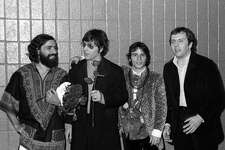 From left, Felix Cavaliere, Dino Danelli, Eddie Brigati and Gene Cornish of The Rascals attend Martin Luther King Jr Benefit Concert in 1968 at Madison Square Garden in New York City.
