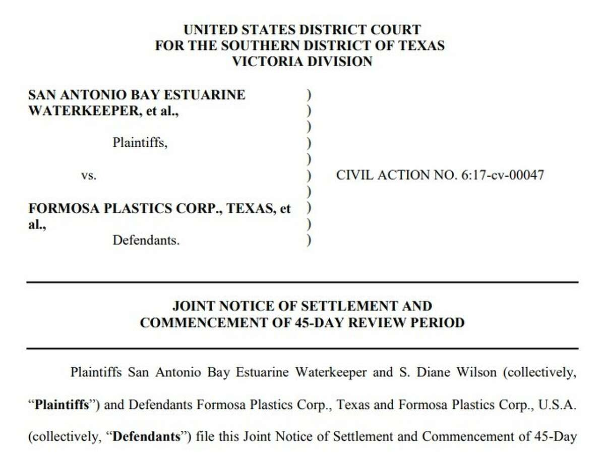 A petrochemical plant located about 120 miles southwest of Houston has entered into $50 million settlement in a lawsuit over polluting Lavaca Bay with plastic pellets.