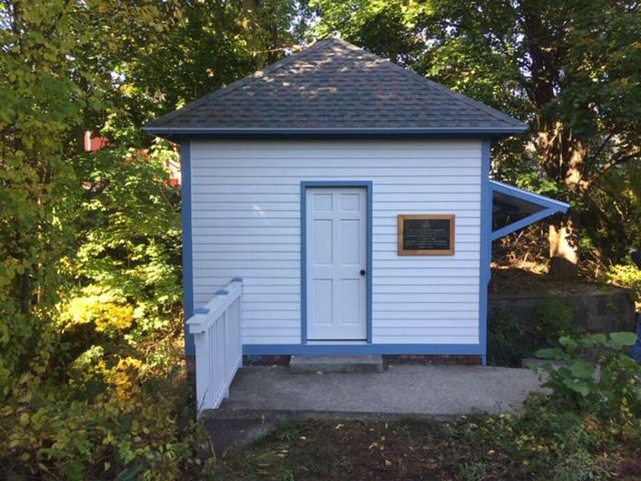 The gate house at Coe Brass Dam park has been restored, according to the Heritage Preservation Land Trust. Photo: Heritage Preservation Land Trust