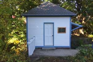 The gate house at Coe Brass Dam park has been restored, according to the Heritage Preservation Land Trust.