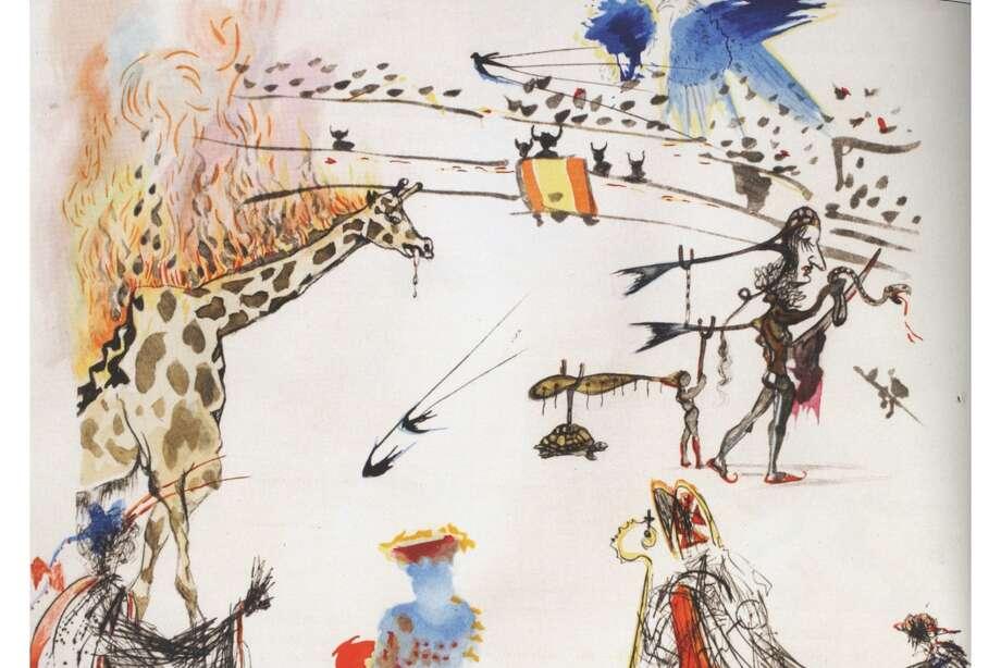 "A SalvadorDalíwork titled ""Surrealistic Bullfight: Burning Giraffe"" was stolen from Dennis Rae Fine Art in San Francisco on Sunday, Oct. 13. Photo: Dali / Dennis Rae Fine Art"