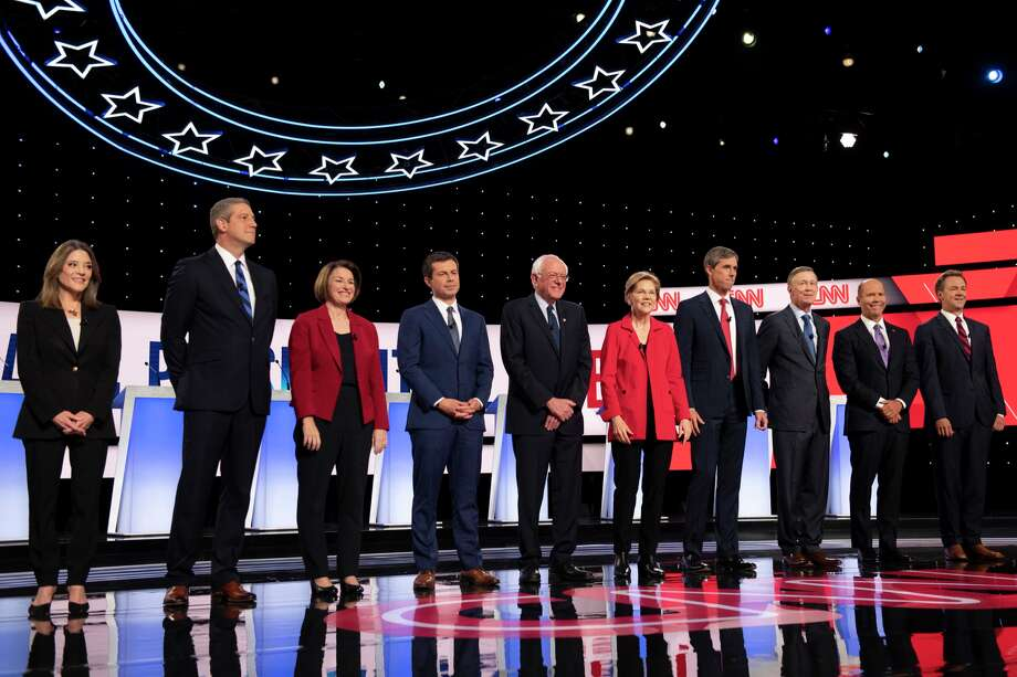 How to watch the next Democratic debate Have you ever wanted to see 12 politicians on a debate stage, at the same time, on the same night, fighting for the same job, clobbering each other to claim tiny morsels of preciously limited speaking time? No? Well, too bad. Photo: Tanya Moutzalias/TNS