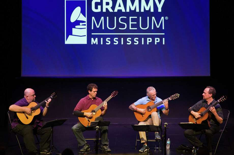 The Los Angeles Guitar Quartet prepares for a performance at Grammy Museum Mississippi in 2016. Photo: Will Jacks/WireImage / Getty Images / 2016 WireImage