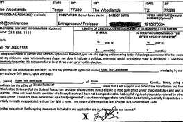 Bob Milner, a candidate for Position 7 seat on The Woodlands Township Board of Directors, listed incorrect information on his state candidate application form in regard to his lengths of continuous residency in both The Woodlands and the state of Texas. Milner admitted he has only resided in the township since sometime in 2014, contradicting the more than 14 years he listed on his form. He also listed erroneous information for his continuous time of residence in Texas, stating more than 15 years.