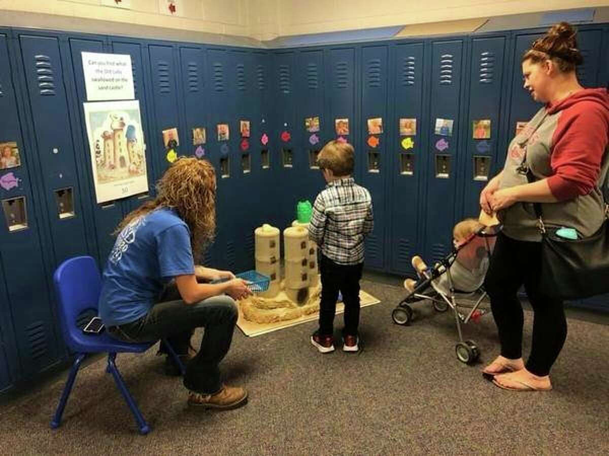 The book walk was an interactive experience where kids were able to walk throughEastwood Early Childhood Centerwhile reading the book