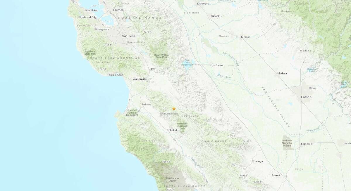 An earthquake with a preliminary magnitude of 4.8 shook Central California Tuesday afternoon. It was felt in parts of the Bay Area.