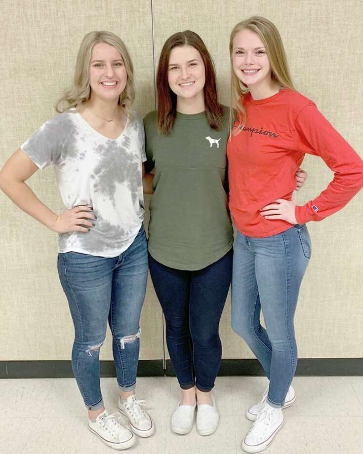 The 2019 USA homecoming queen candidates include: Chelsea Bolzman, daughter of Lee and Michelle Bolzman; Danielle Harper, daughter of Steve and Carolyn Repkie; and Kaitlyn Liken, daughter of Fred and Charlotte Liken. (Submitted photo)