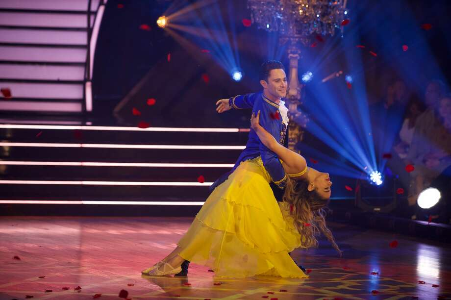 "On Monday night's ""Dancing with the Stars"" Disney episode, Ally Brooke and her partner Sasha Farber were given the first 9s of the season after the duo performed to ""Beauty and the Beast"" by Ariana Grande and John Legend.  Photo: Eric McCandless/ABC Via Getty Images"