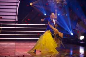 "On Monday night's ""Dancing with the Stars"" Disney episode, Ally Brooke and her partner Sasha Farber were given the first 9s of the season after the duo performed to ""Beauty and the Beast"" by Ariana Grande and John Legend."