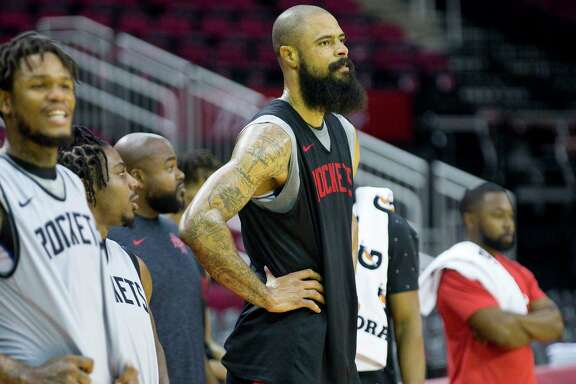 As he enters his 19th NBA season, center Tyson Chandler is looking forward to running pick-and-roll with the Rockets.