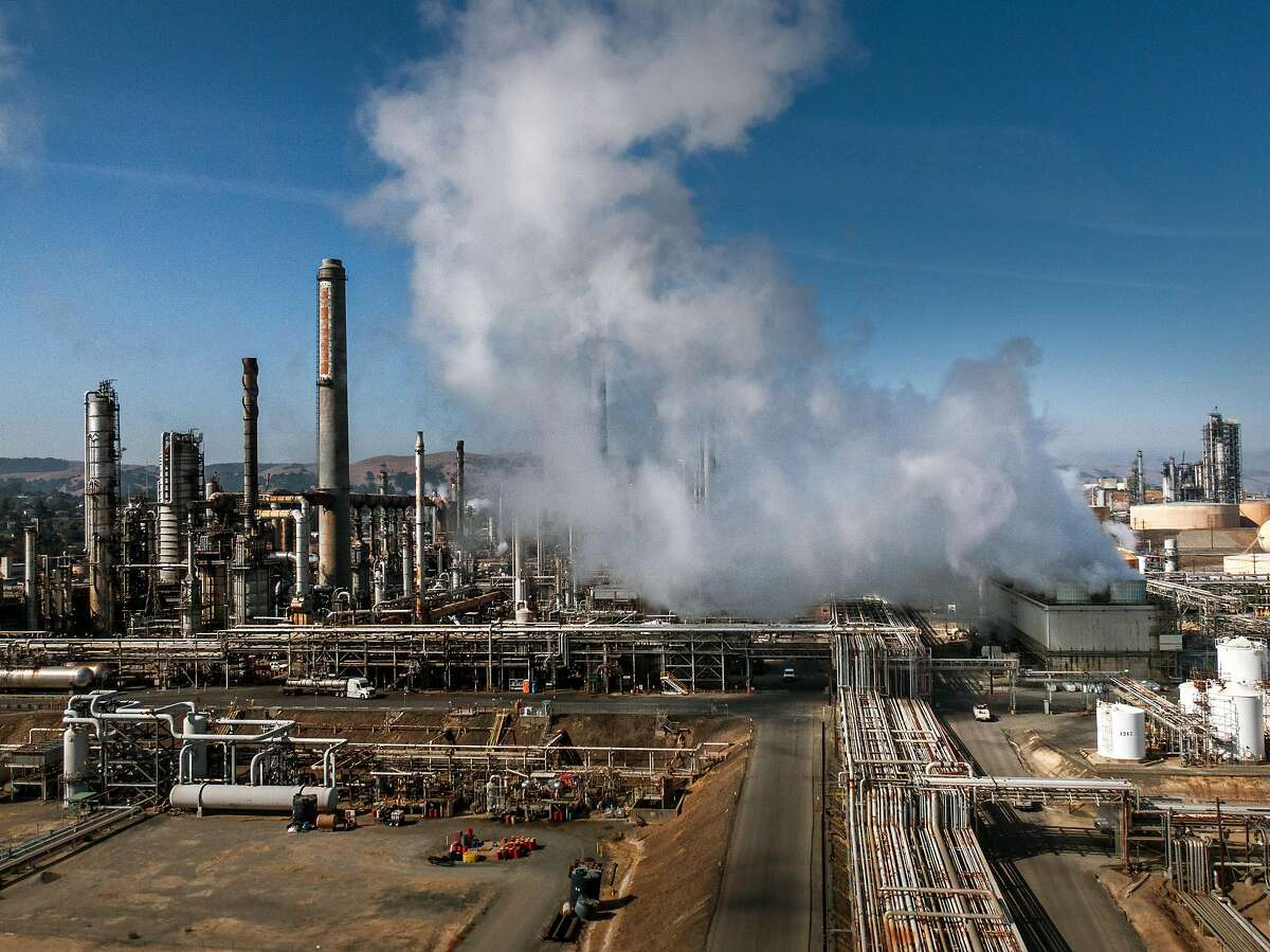 The Shell refinery on Tuesday, Oct. 15, 2019, in Martinez, Calif. At Shell refinery in Martinez, �some equipment was temporarily affected by the quake� on Monday, according to a spokesman.